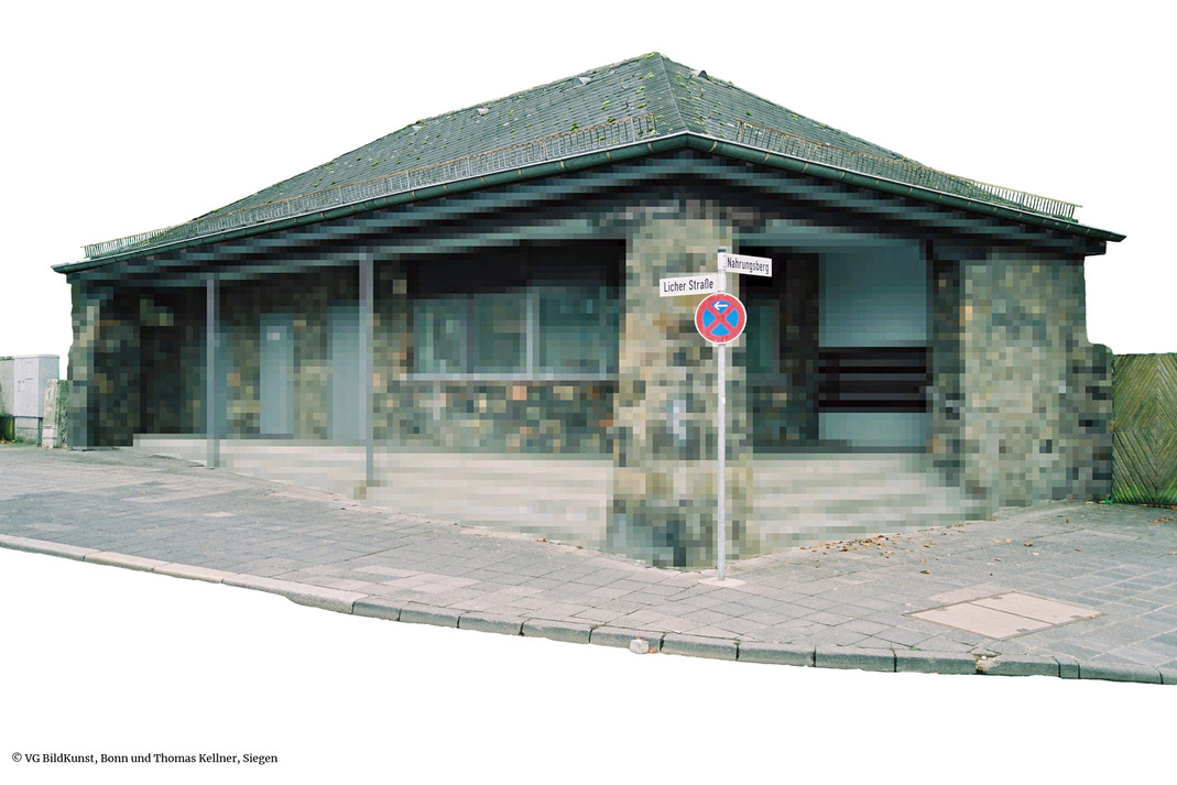 Thomas Kellner: Kiosk without streets and buildings around, Giessen, 2004