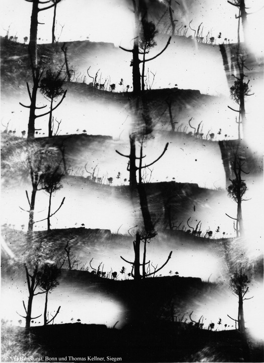 "Thomas Kellner: Tierra quemada, obscure, photographies from the ashes Nr. 1, 1993, BW-Print, 16,4x23,5cm/6,4""x9,2"", edition 10+2"