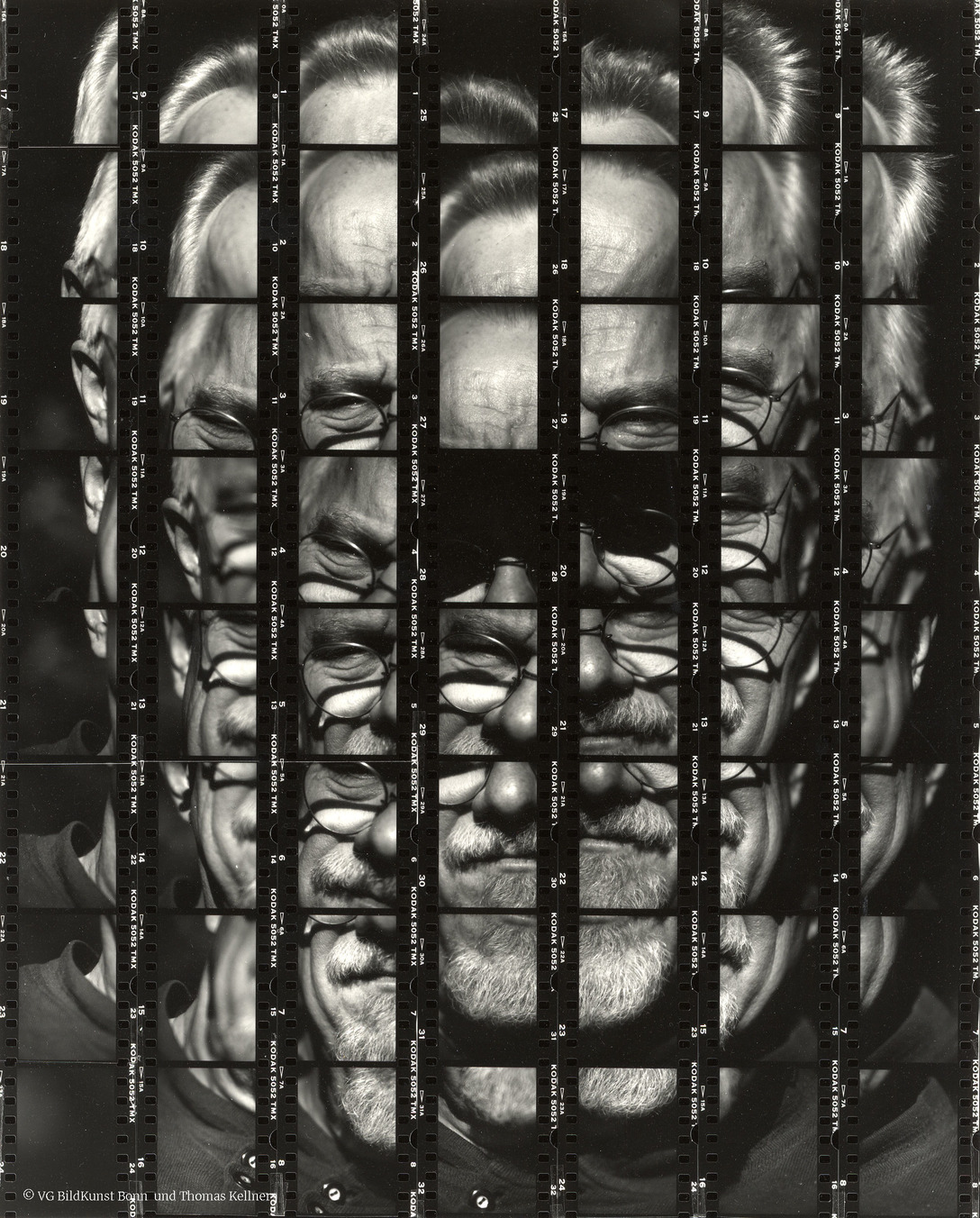 "Thomas Kellner: 20#01 Portait of my teacher Juergen Koenigs, 2000, BW-Print, 24,8 x 30,7 cm/9,5"" x 12"", edition 30+5"