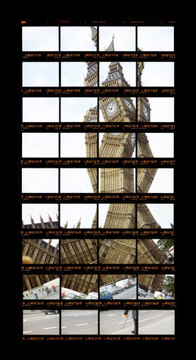 "14#09, London, Big Ben, 1999, C-Print, 15,3 x 31,4 cm / 5,9"" x 12,2"", edition 10+3"