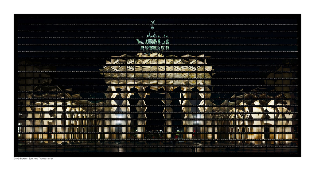 "Thomas Kellner: 56#03 Berlin, Brandenburg Gate at night, 2006, C-Print, 142,9 x 69,7 cm / 53,2"" x 27,2"", edition 12+3"
