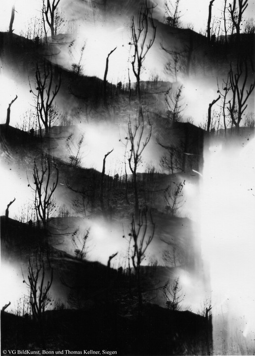 "Thomas Kellner: Tierra quemada, obscure, photographies from the ashes Nr. 2, 1993, BW-Print, 16,4x23,5cm/6,4""x9,2"", edition 10+2"