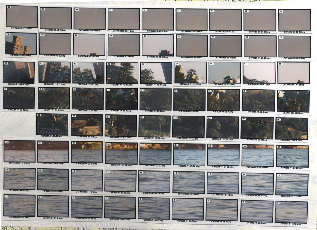 mounted indexprints of 88#03 Kirribilli House, Sydney