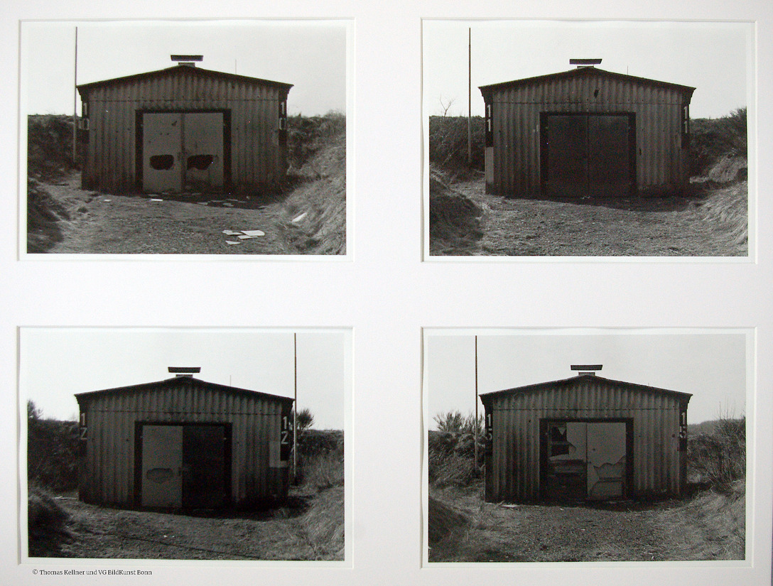 Thomas Kellner: a typology of the abandoned, hutted camp, 1995/2005, 4 bw-prints, each 22,9x17,0cm, edition 3+1