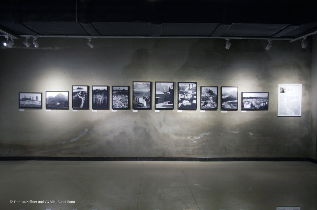 Michal Cala (Poland) at the exhibition Transition, Third Term International Photography Festival Liaoning in Beizhen, curated by Thomas Kellner