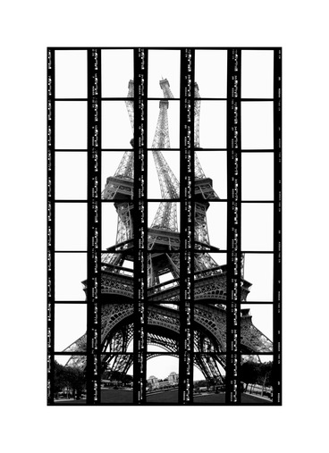 "02#10 Paris, Tour Eiffel, 1997, BW-Print, 17,5 x 27,0 cm / 6,8"" x 10,5"", edition 10 + 3"