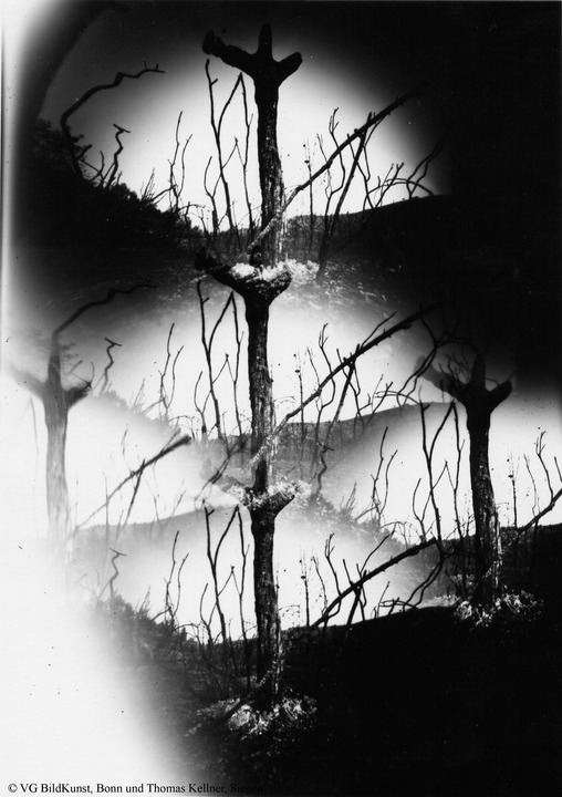 "Thomas Kellner: Tierra quemada, obscure, photographies from the ashes Nr. 6, 1993, BW-Print, 16,4x23,5cm/6,4""x9,2"", edition 10+2"