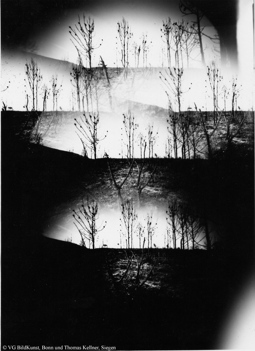 "Thomas Kellner: Tierra quemada, obscure, photographies from the ashes Nr. 5, 1993, BW-Print, 16,4x23,5cm/6,4""x9,2"", edition 10+2"