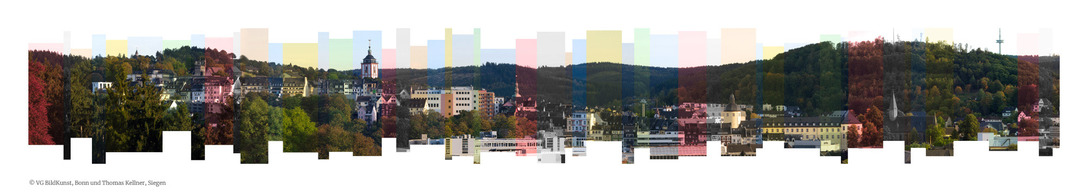 Thomas Kellner: Siegen montaged in stripes, 2016