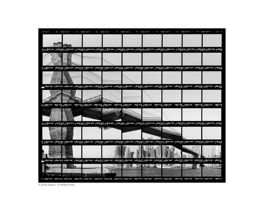 Thomas Kellner, Skyline at Brooklyn Bridge in Black & White