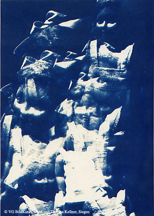 "Thomas Kellner: Lost Memories No. 1, 1997, Cyanotype, 16,4x23,5 cm/6,4""x9,2"", edition 10+3"