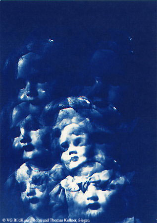 "Thomas Kellner: Lost Memories No. 6, 1997, Cyanotype, 16,4x23,5 cm/6,4""x9,2"", edition 10+3"