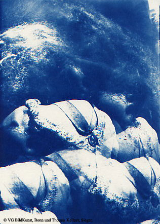 "Thomas Kellner: Lost Memories No. 9, 1997, Cyanotype, 16,4x23,5 cm/6,4""x9,2"", edition 10+3"