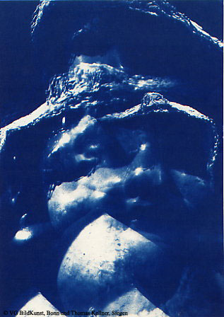"Thomas Kellner: Lost Memories No. 10, 1997, Cyanotype, 16,4x23,5 cm/6,4""x9,2"", edition 10+3"