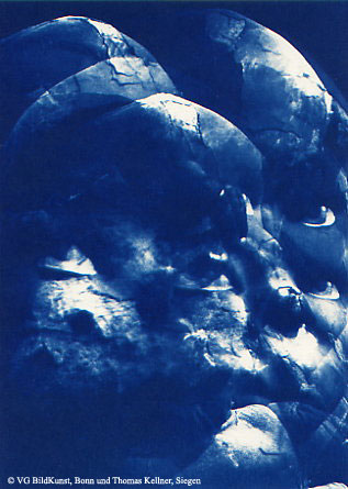 "Thomas Kellner: Lost Memories No. 11, 1997, Cyanotype, 16,4x23,5 cm/6,4""x9,2"", edition 10+3"
