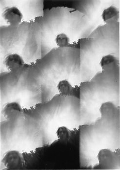 "Thomas Kellner: Self portrait, 1993, BW-Print, 16,4x23,5cm/6,4""x9,2"", no edition 1AP"